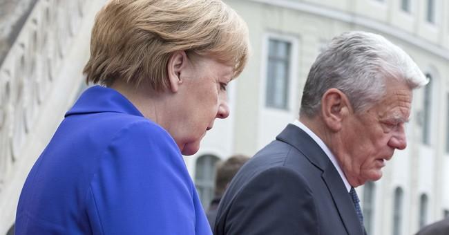 Far-right critics denounce Merkel on German unification day