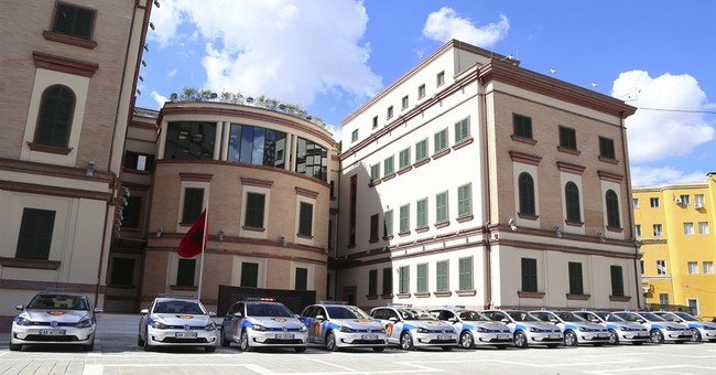 Albania police with electric cars, but no recharging spots