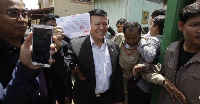 Cambodian opposition leader temporarily leaves refuge