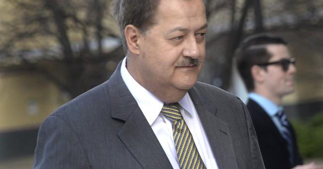 In jail, ex-coal CEO says he's 'American political prisoner'