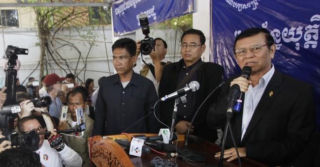 Cambodian opposition leader temporarily leaves refuge