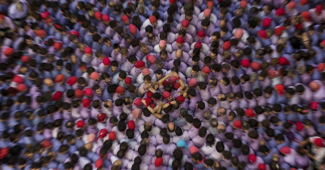 AP PHOTOS: Human tower building in Catalonia complex