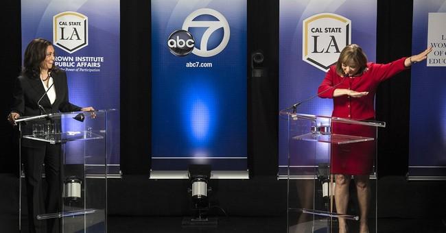 California Senate candidate gets buzz with 'debate dab'