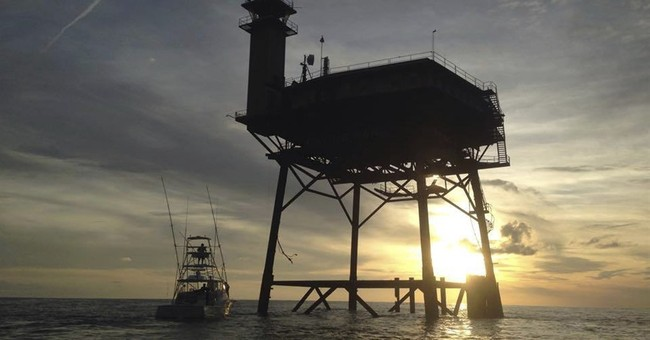 Say what? Owner of tower rides out storm in middle of ocean