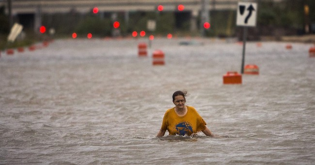 Homeless Ga. woman wades in neck-high floodwater to safety