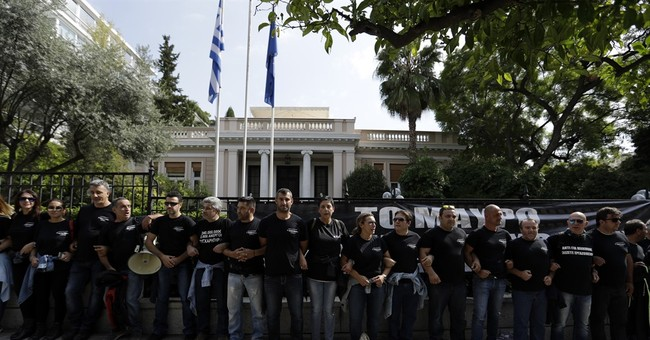 Greek private TV workers protest feared job losses