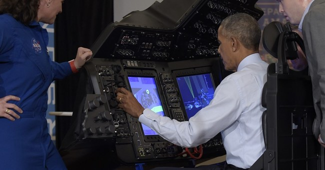 Spacecraft, mini-drones and robotic arms: Obama nerds out