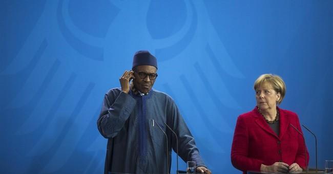 Nigeria's president says wife 'belongs to my kitchen'