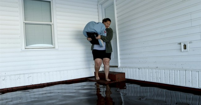 An anxious journey to check on a flooded home, then relief