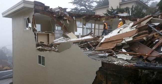 Crews demolishing San Francisco house sliding off hill