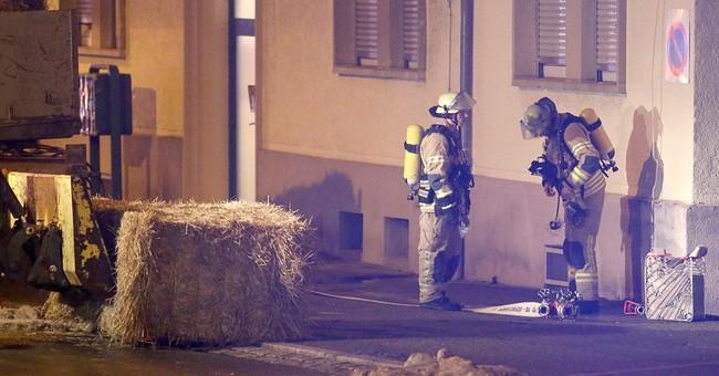 Explosive device thrown at German asylum home