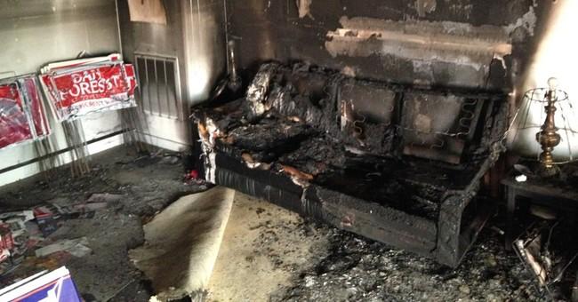 North Carolina GOP office burned, graffiti sprayed nearby