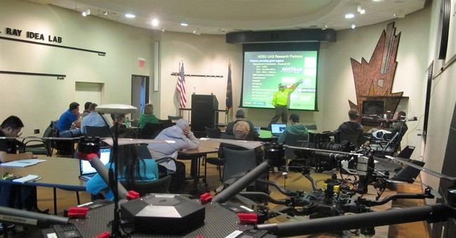 North Dakota students learn how to build drone businesses