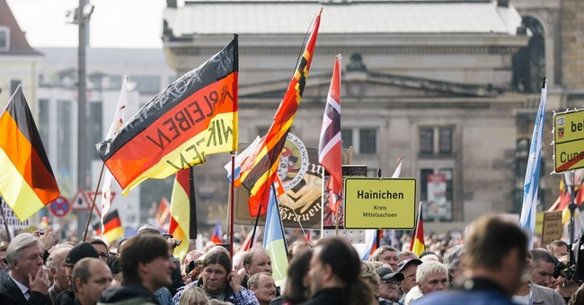 Several thousand in Germany mark PEGIDA's 2nd anniversary