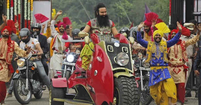 Indian guru stars in films to spread message to the masses