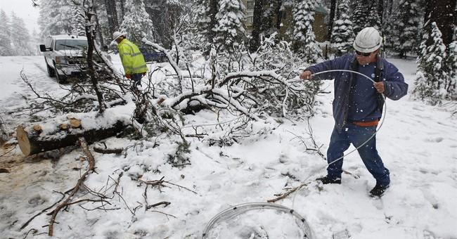 California's Sierra Nevada sees snowfall
