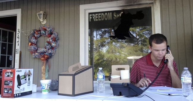 GOP office reopens after firebombing in North Carolina