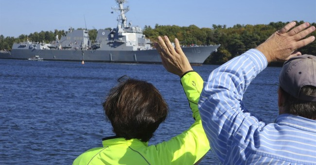 Shipbuilders worried about jobs while Navy celebrates ship