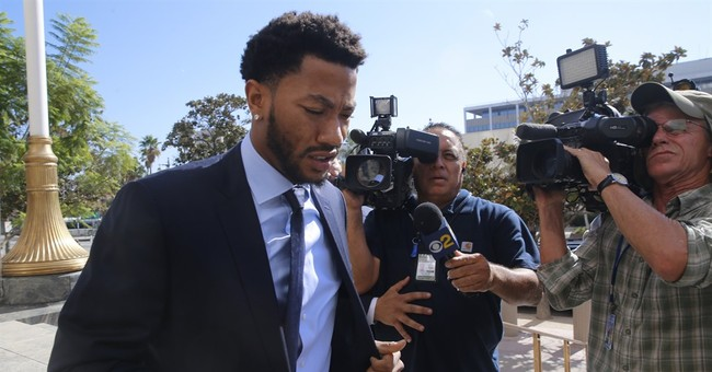 The Latest: Rose defense says accuser lied, faked tears