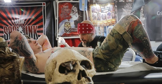 AP PHOTOS: Tattoo artists gather for convention in Romania