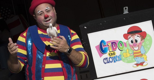 Crying inside? Creepy craze no joke for real clowns