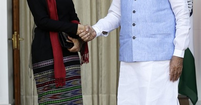 India offers Myanmar's Suu Kyi help in energy, agriculture