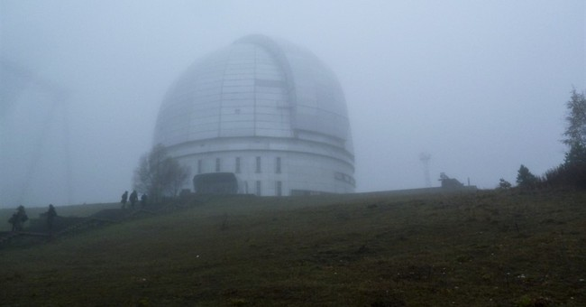 Russian observatory once closed to public houses art exhibit