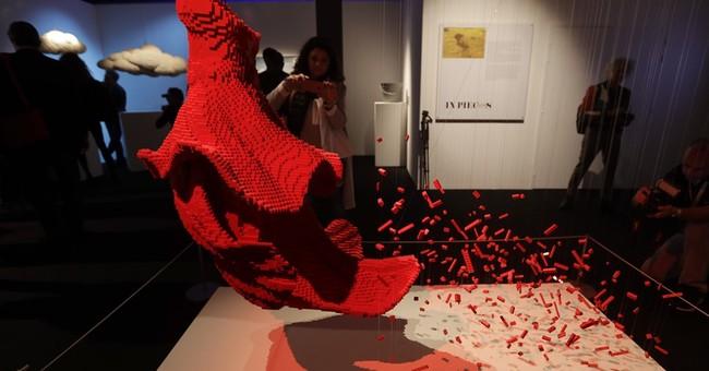 AP PHOTOS: Exhibit of Lego sculptures opens in Milan