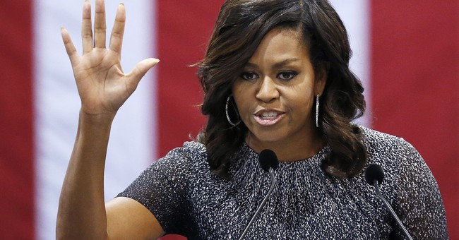 For first lady, Trump is he who shall remain nameless