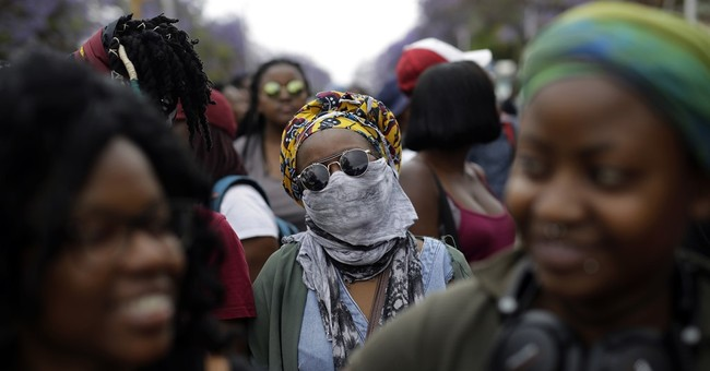 South African student leader is injured in protest