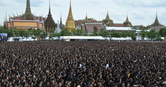 Thais honor late king with special version of royal anthem
