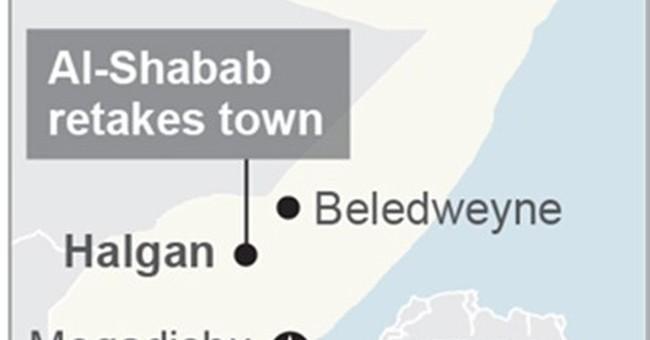 Somali extremists retake town in central Somalia