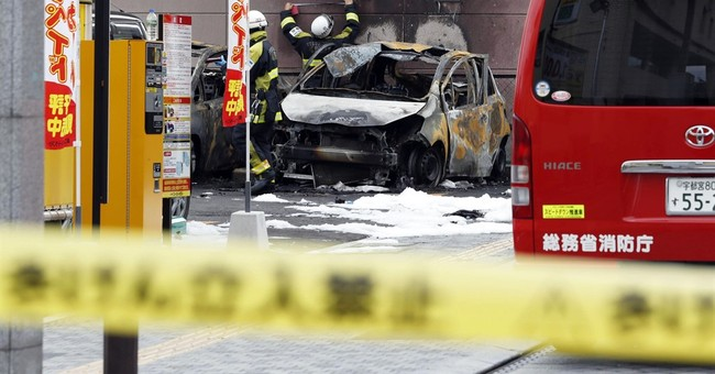 2 explosions hit Japanese city, killing 1; suicide suspected