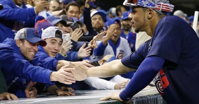 Cubs fans celebrate team's 1st World Series berth since 1945