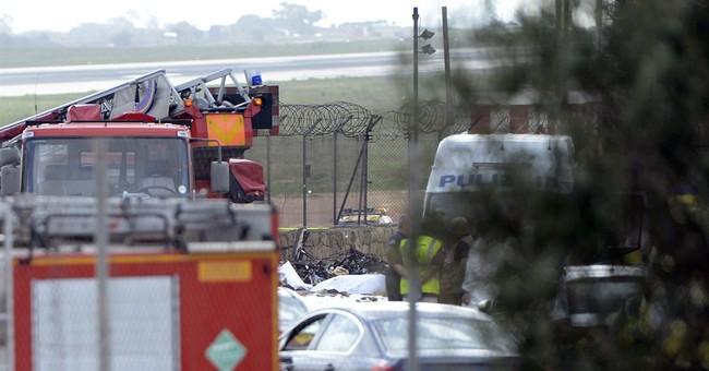 Malta says plane crashed en route to Libya surveillance trip