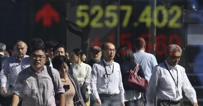 Global stocks up on strong Japanese, European data