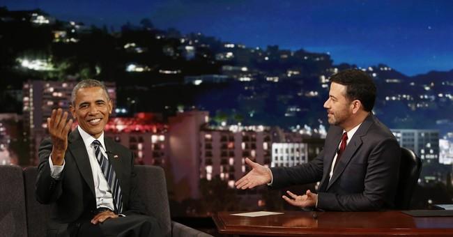Obama mixes talk of 'mean tweets,' politics on Jimmy Kimmel