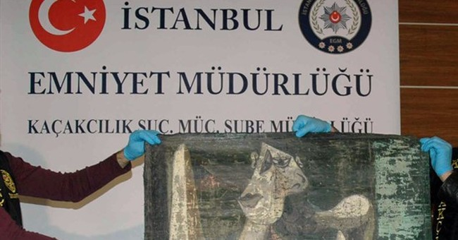 Turkish police recover painting resembling Picasso's work