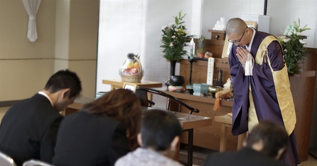 Monks delivered via Amazon as role of Japanese temples fade