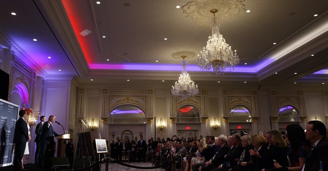 At Trump hotel in Washington, alternate reality: All is well