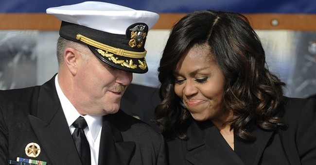 Michelle Obama: 'Beyond proud' at US Navy submarine ceremony