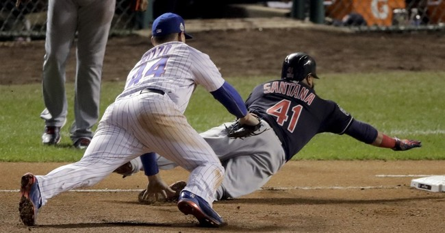 The Latest: Indians rout Cubs 7-2, within 1 victory of title