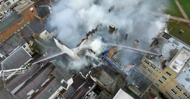 Fire damages what is thought to be England's oldest hotel