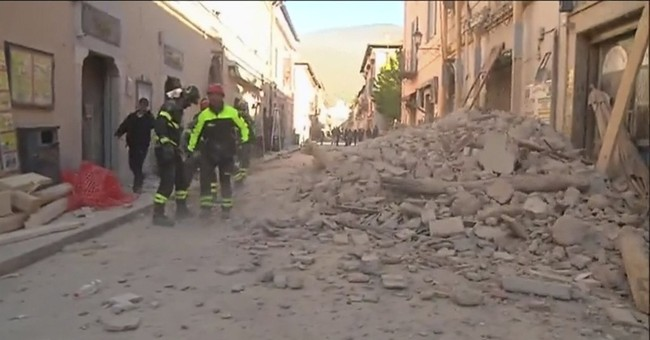 Powerful quake rattles Italy; no deaths immediately reported