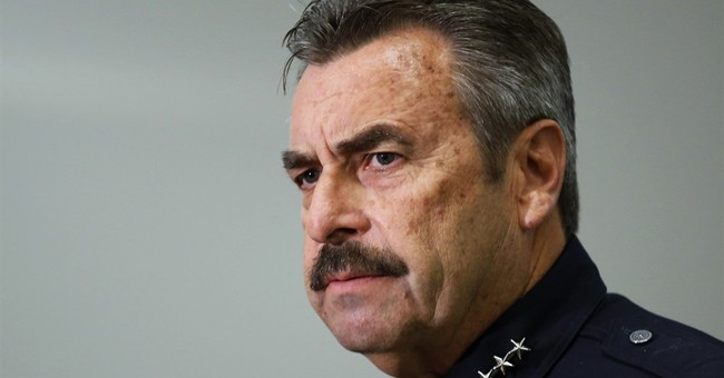 LA police chief avoids surgery after motocross mishap