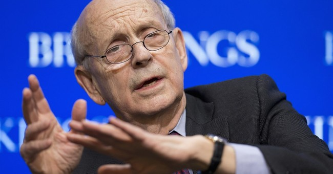 Justice Breyer, the fashion maven, makes a colleague swoon