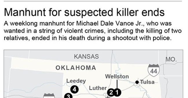 The Latest: 3 charged with aiding Oklahoma fugitive