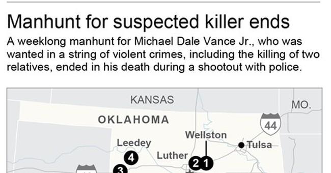 Fierce gun battle in Oklahoma ends with fugitive dead
