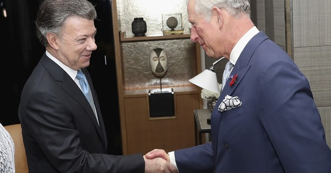 Colombian president on UK state visit as peace deal teeters