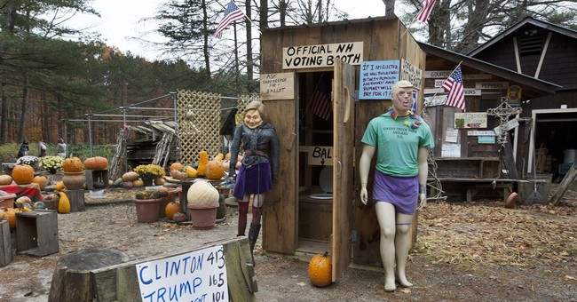 Flush with victory! Outhouse vote favors Hillary Clinton